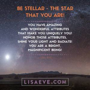 Be stellar, the star that you are!