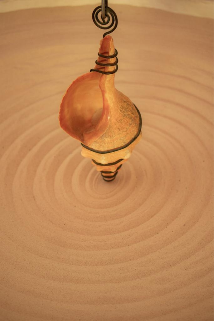 Sand spiral art